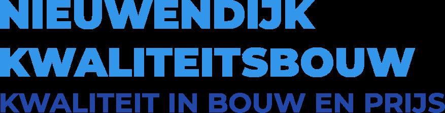 Nieuwendijk Kwaliteitsbouw Slogan